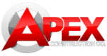 Apex Construction Company Iowa City logo header